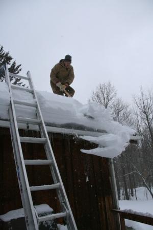 "Roof shoveling ""fun"""