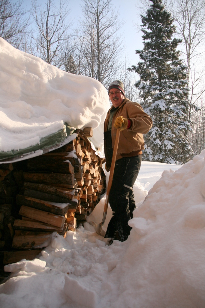 Shoveling Four Feet Of Snow Off Our Wood Pile Amp Other Deep