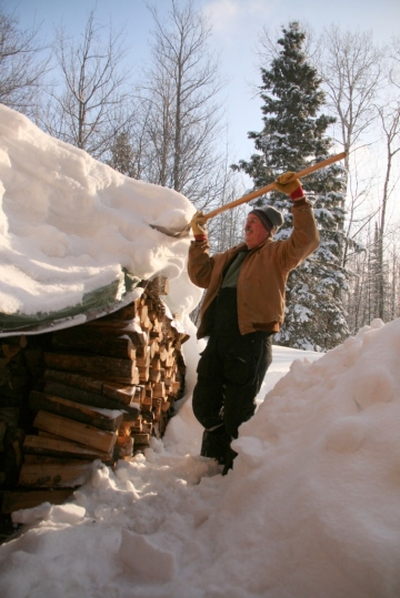 Do you know how hard it is to shovel snow over your head?