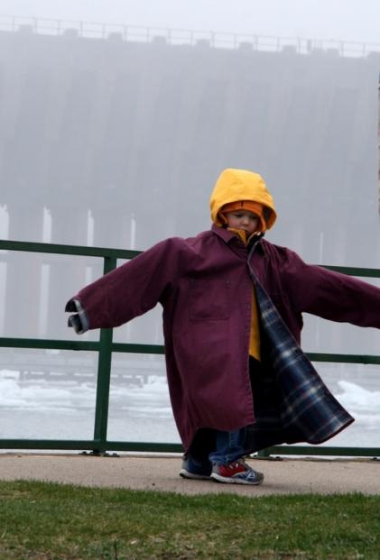 Overs-sized rain coat!
