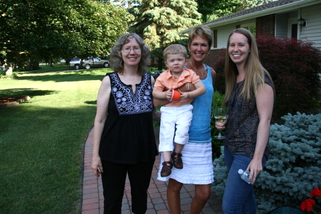 Me, My friend, Pattijo and her grandson, and daughter from NYC