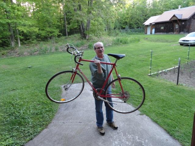 Barry's old bike that we're sending Chris