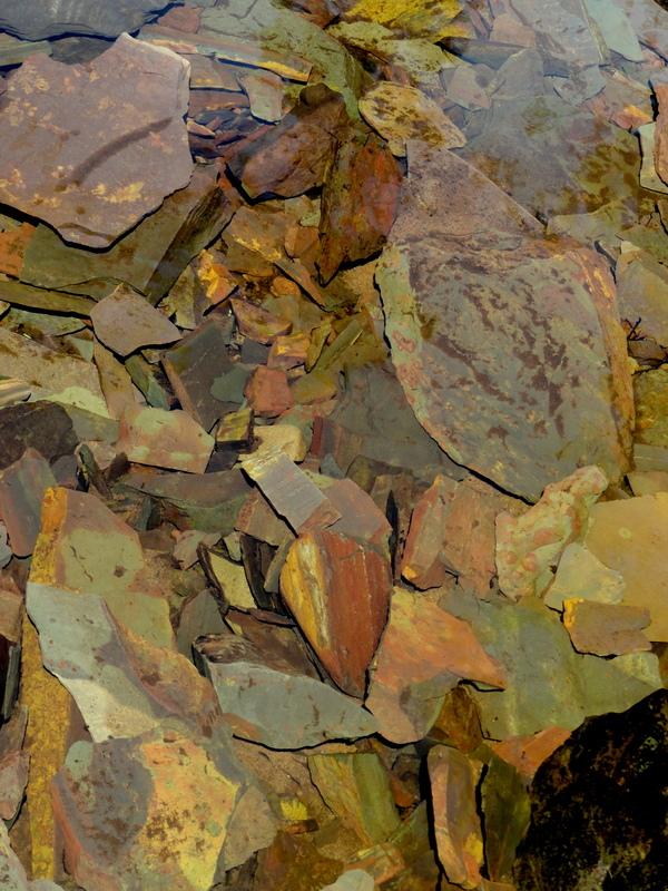 Slate river stones