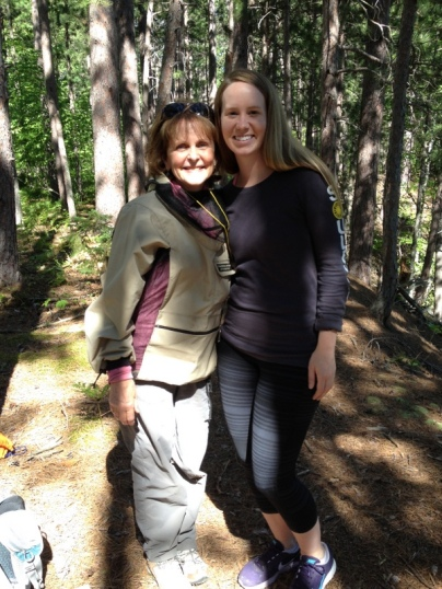My friend, Catherine, and my hiker daughter