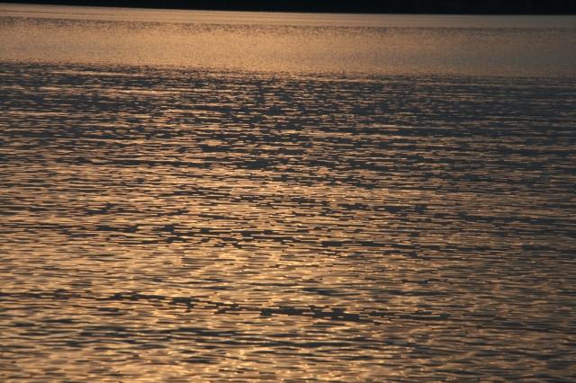Lake Superior sunset shimmer