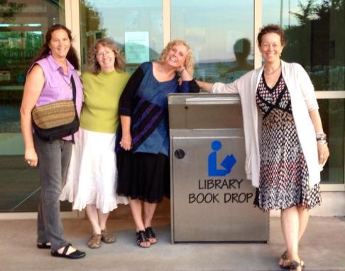 The book tour babes:  Monica, me, Terri and Suzi