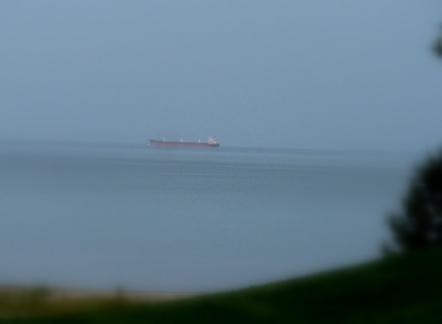 Distant freighter