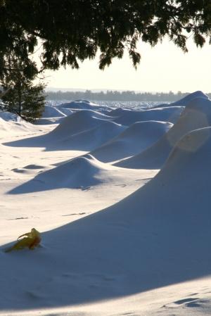 Looks like snow dunes
