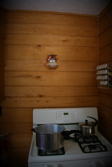 Gas light over stove