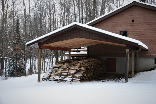 Our big wood shed in the big woods
