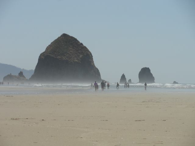 Haystack rock.  This is where I ended up a few days later on the coast of Oregon