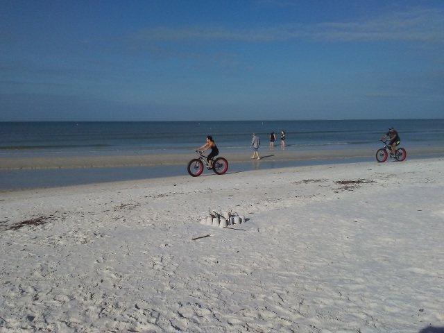Bikes along the sand