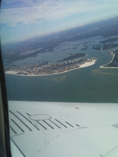 South end of Fort Myers Beach from plane
