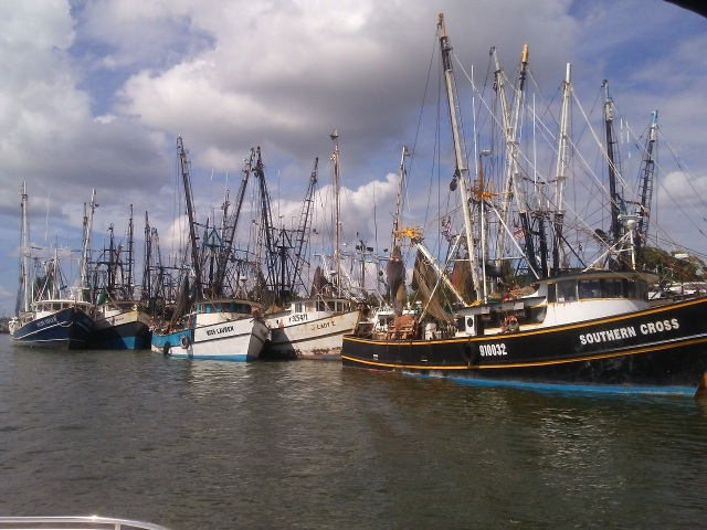You gotta love the shrimp boats