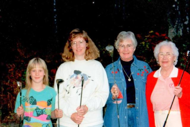 Four generations of the women in our family from several years ago.  Make that many years ago.