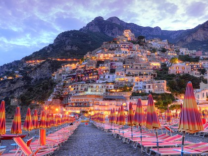Positano, as seen from the beach