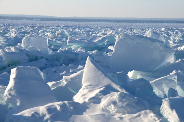 Jagged ice on the Keweenaw Bay, March, 2015