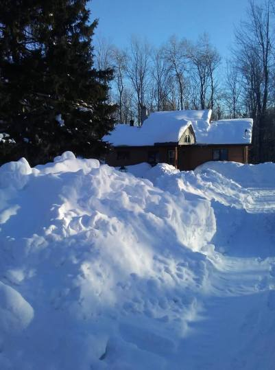 This year (2019) all we do is shovel, rake and plow snow.