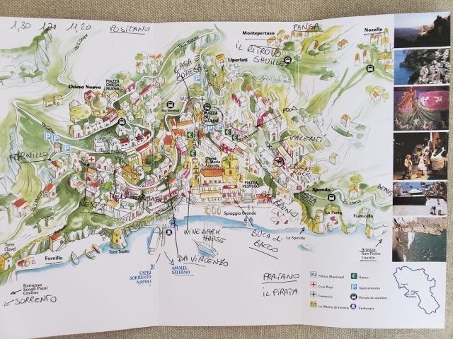 Positano Map